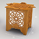 Islamic lantern cnc drawing - 3DOcean Item for Sale