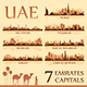 All the capital cities of the United Arab Emirates - GraphicRiver Item for Sale