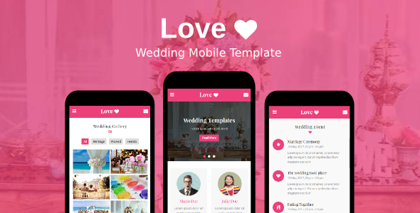 Love - Wedding Mobile Template