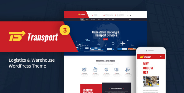 Transport - Logistic & Warehouse WordPress Theme