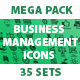 Business management icons.Mega Pack. - GraphicRiver Item for Sale