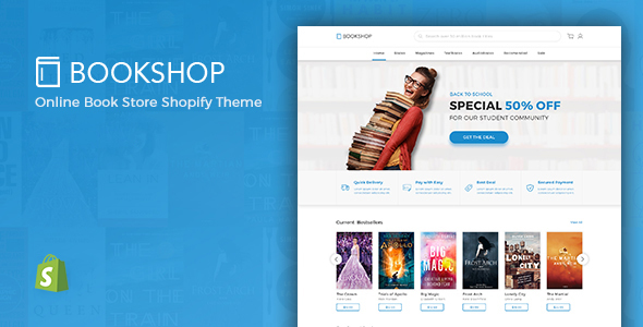 Bookshop - Digital Download Product Shopify Theme