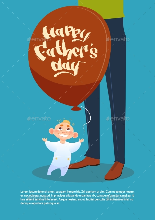 Happy Father Day Family Holiday, Son Hold Air