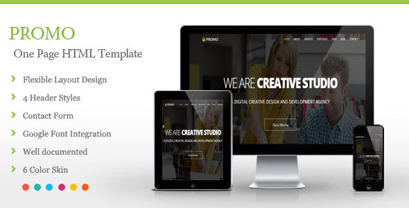 Promo - One Page HTML Template