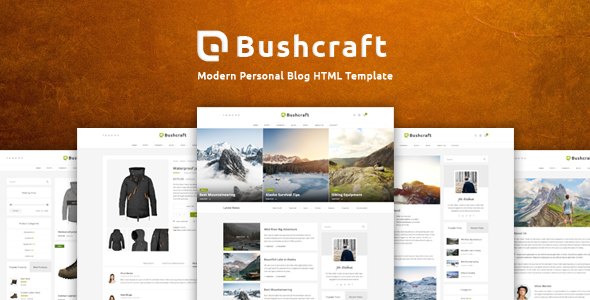 Bushcraft - Personal Blog HTML Template