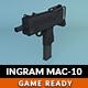 Low Poly Ingram MAC-10 - 3DOcean Item for Sale