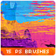 15 Horizontal Paint Trails Photoshop Brushes #2 - GraphicRiver Item for Sale