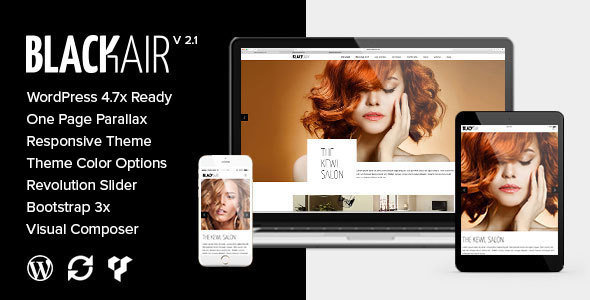 Blackair - One Page WordPress Theme for Hair & Beauty Salon