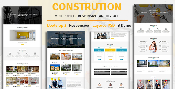 CONSTRUCTION - Multipurpose Responsive HTML Landing Page