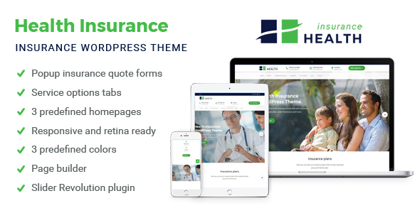 Health Insurance - Business WordPress Theme