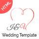 I&U Wedding HTML Template. - ThemeForest Item for Sale