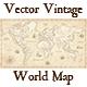 Vintage Vector World Map - GraphicRiver Item for Sale