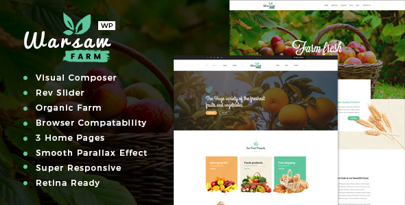 Warsaw - Organic Food & Eco Products WooCommerce WordPress Theme