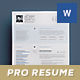 Pro Resume / Cv - GraphicRiver Item for Sale