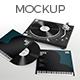 Realistic Vinyl Record & Player Mockup - GraphicRiver Item for Sale