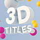 Sphere Bound 3D Titles - VideoHive Item for Sale