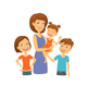 Mother With Kids - GraphicRiver Item for Sale