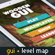 Wooden GUI and Game Level Map with 9 Different Worlds - GraphicRiver Item for Sale