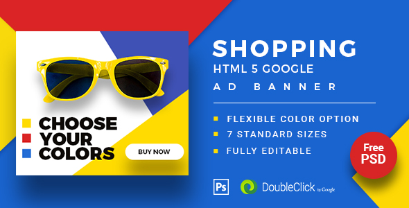 Shopping - HTML5 Animated Banner 20 Advance Download