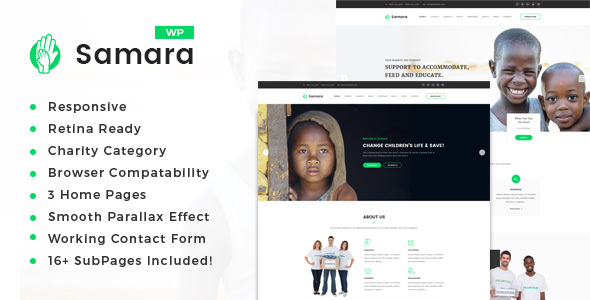 Samara - Charity/Fundraising WordPress Theme