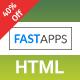 FASTAPPS Creative Mobile Apps Multiplepurpose HTML5 Template - ThemeForest Item for Sale