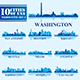 Set of 10 Silhouettes USA Cities #2 - GraphicRiver Item for Sale