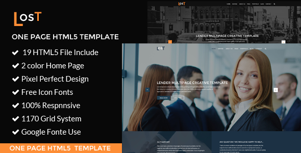 lost   Corporate / Business  HTML5 Template