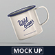 Enamel Mug Mockup - GraphicRiver Item for Sale