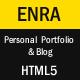 Enra - Personal Portfolio & Blog Template - ThemeForest Item for Sale