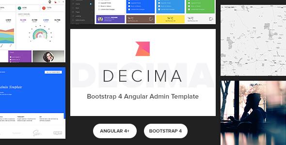 Decima - Bootstrap 4 Angular Admin Template