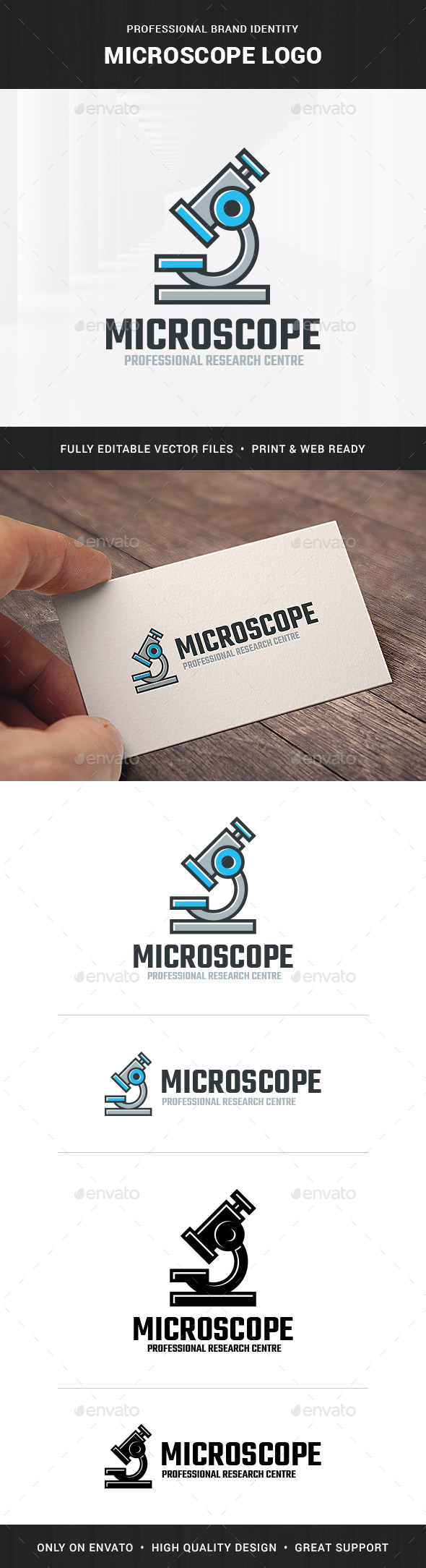 Microscope Logo Template