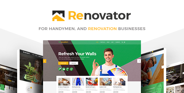 Renovator - Contractors and Renovation Business Theme