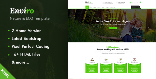 Enviro - Environment / Non-Profit HTML Template