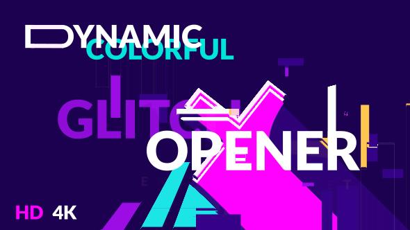 Dynamic Colorful Glitch Opener