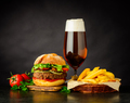 Burger Sandwich with Beer - PhotoDune Item for Sale