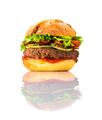 Tasty Looking Big Burger on White Background - PhotoDune Item for Sale