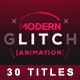 30 Glitch Titles - VideoHive Item for Sale