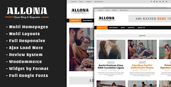 Allona - Clean & Beautiful Blog and Magazine Theme