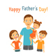 Happy Fathers Day Greeting Cards - GraphicRiver Item for Sale