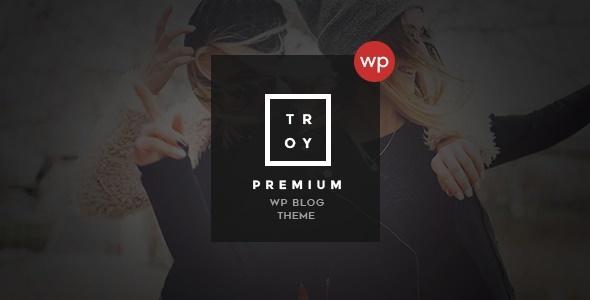Troy - Complete WordPress Blogging Theme