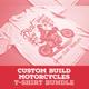 Custom Build Motorcycles T-Shirt Bundle - GraphicRiver Item for Sale