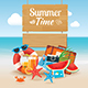 Hello Summer Time Travel Season Banner - GraphicRiver Item for Sale