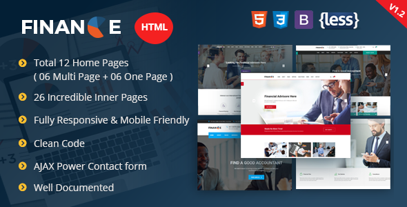 Finance - Corporate and Business HTML Template