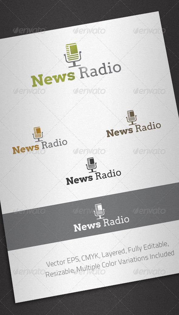 News Radio Logo Template