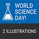 Concept World Science Day People Science Different Objects - GraphicRiver Item for Sale