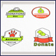 Charity Logo Vector Badges Set - GraphicRiver Item for Sale