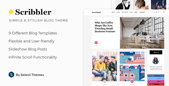 Scribbler - Simple Blog Theme