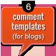 6 Comment Templates - GraphicRiver Item for Sale