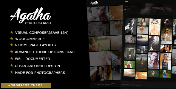 Agatha | Photography Fullscreen Theme