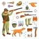Vector Set of Hunting - GraphicRiver Item for Sale